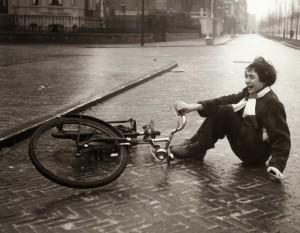falling off a bike